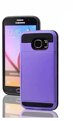 Samsung Galaxy S6 Case,Newstore ID Credit Card Holder Hard Case Back Cover For New Samsung Galaxy S6 With Free Packing With Newstore Trademark gifts,Not Fit For Samsung Galaxy S6 Edge (Purple)
