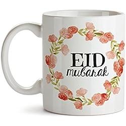 Eid Gifts- Eid Mug - Eid Mubarak - Eid Decor - Ramadan Mubarak - Ramadan Gifts - Islamic gifts - Islamic Mug - Arabic Gifts - Peach Floral Mug Design