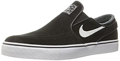 Nike Men's Zoom Stefan Janoski Slip Black/White Skate Shoe 8.5 Men (Nike Slip)