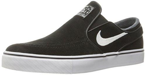 Nike Men's Zoom Stefan Janoski Slip Black/White Skate Shoe 9.5