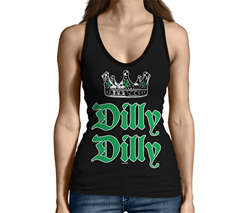 Patricks Day Womens Tank Top - HAASE UNLIMITED Junior's Dilly Dilly ST. Patricks Day Tank Top (Black, Small)