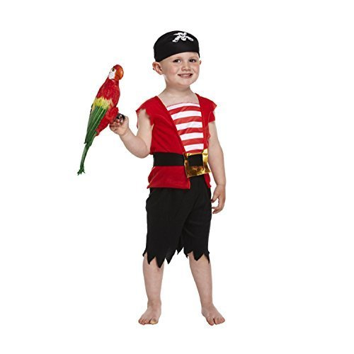 Henbrandt Pirate Boy Costume for Toddlers (3 Years) Red]()