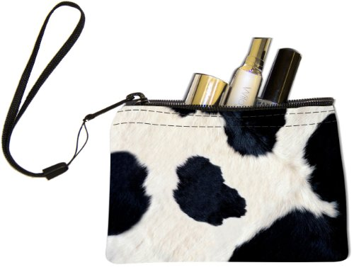 Rikki Knight Cow Hide Design Keys Coins Cards Cosmetic Mini Clutch (Cow Hide Bag)