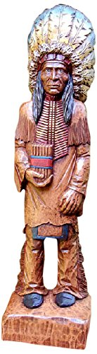 - Hickory Manor House Cigar Store Indian Hand Painted Decorative Accessory