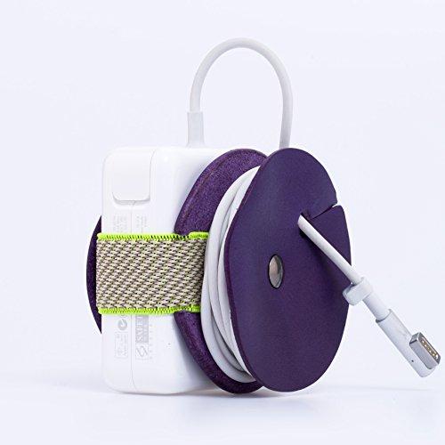 PowerPlay Cord Organizer for Apple Magsafe Power Adapter 85w & 60w (Purple / Neon)