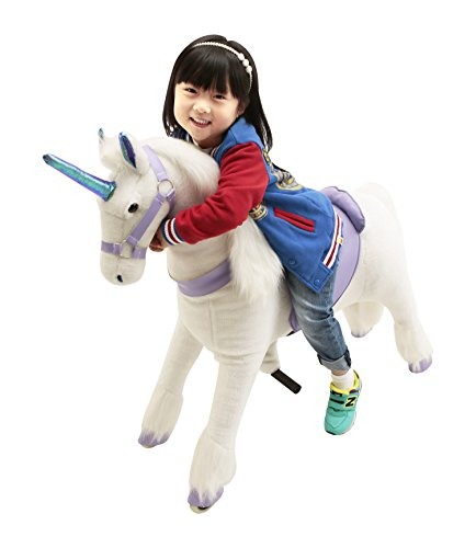 New Girl's Gift Mechanical Ride on Purple Unicorn Simulated Horse Riding on Toy Ride-on Cycle Toys :More Comfortable Riding with Gallop Motion for Kids 3-6 Years by Gidygo