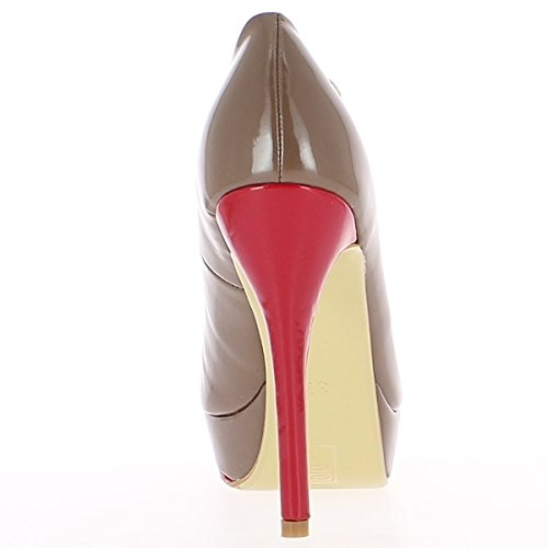 ChaussMoi Senior Woman Taupe Pumps to 12.5 cm Heel NPl0Ll