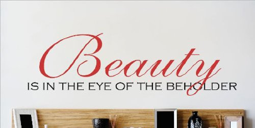 Design with Vinyl OMG 106 Beauty Is In The Eye Of The Beholder Quote Home Decor Bedroom Bathroom, 8-Inch by 30-Inch, As Seen DesignwithVinyl - CA OMG 106 As Seen