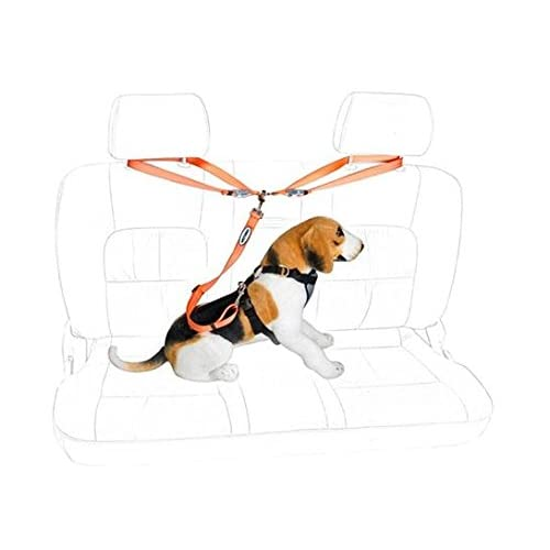 Car Dog Leash Seat Belt Tether for Dogs-Your Tether Harness Attaches Around Backseat Headrests-Breeds Up to 100 lbs-Adjustable Length to Secure Your Dog-For SUVs Sedans Trucks-Bonus Roll of Waste Bags hot sale 2017