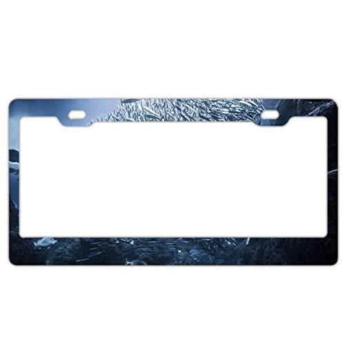 Underwater Black Aluminum Metal License Plate Frame, Personalized License Plate Cover Holder, Auto Car Tag Frame, 2 Hole and Screws