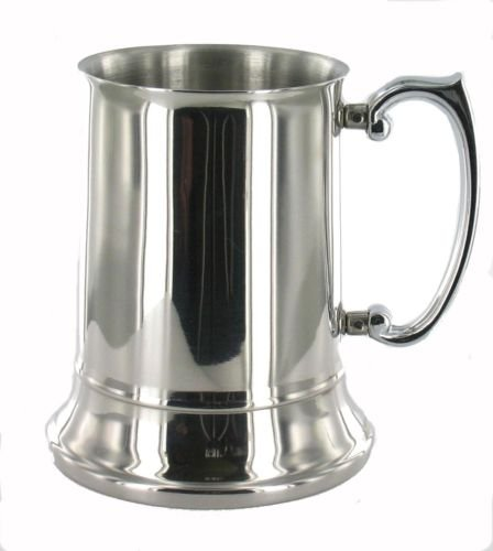 personalised 1 pint stainless steel tankard engraved amazon co uk