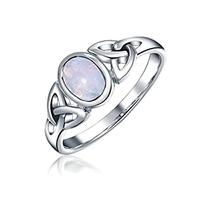 Bling Jewelry Celtic Moonstone Triquetra Knot Sterling Silver Ring get discount