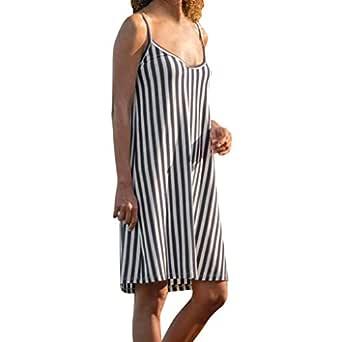 Rcool Vestido Cortos Mujer Verano de Playa Vestido Corto sin ...