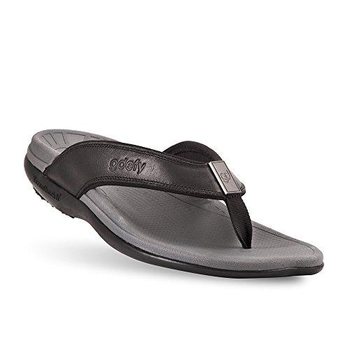 Gravity Defyer Ron Men's Sandals Black 9.5 M Most Comfortable Sandals Arch Support Washable Sandals