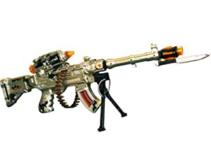 Forces of Valor Burning Spin 3 Electronic Toy Gun