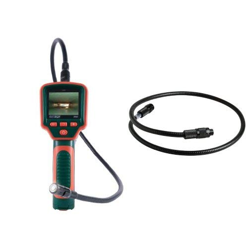 Extech BR80 Video Borescope Inspection Camera with BRC-EXT Extension Cable for BR80