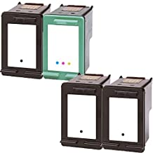 4 Ink First Ink Cartridges C9364WN, C8766WN (HP 98 / HP 95) Compatible Remanufactured for HP 98 Black, HP 95 Tri-color (1 Set + 2 Black)