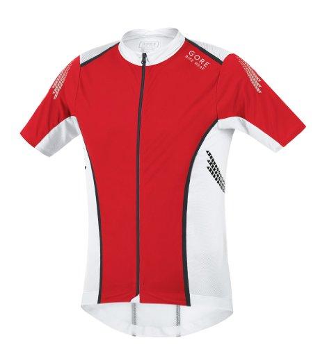 (Gore Bike Wear Men's Xenon S Jersey, Red/White, Medium)