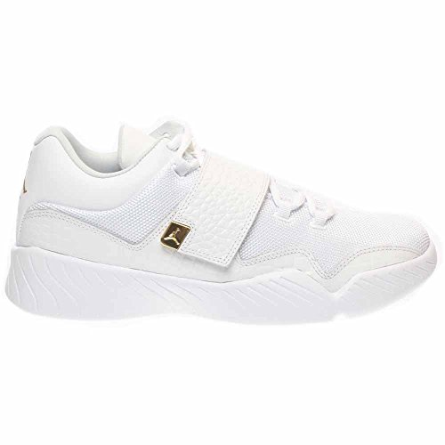 Jordan Nike Men's J23 White/Metallic Gold Casual Shoe 12 Men US