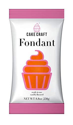 Cake Craft Rolled Fondant - SUNSET ORANGE/Vanilla, 250gr