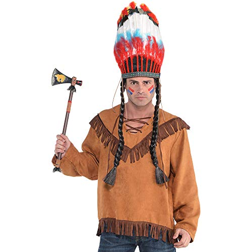 Amscan Native American Shirt Halloween Costume Accessory for Adults, Small/Medium -