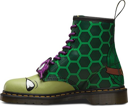 Dr.Martens Womens Donnie 1460 8-Eyelet Leather Boots Green