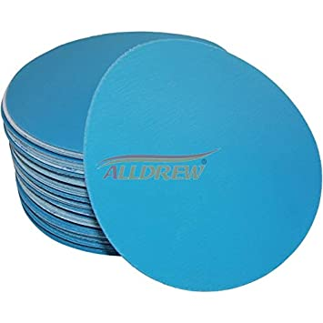 150mm Wet and Dry Sanding Discs 6in Hook and Loop 15 Hole Waterproof 6 Sandpaper 40-3000 Grit 25, Grit 500