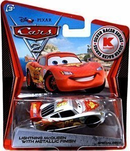 Disney / Pixar Cars 2 Movie Exclusive 155 Die Cast Car Silver Racer Lightning McQueen