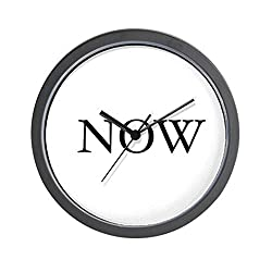 CafePress - Now Clock (The time is Now) 2007 W.Cook - Unique Decorative 10 Wall Clock