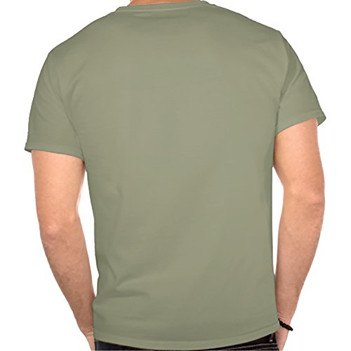 112a sleeping owl Organic Cotton Crewneck Short Sleeve T-shirt XX-Large Army Green