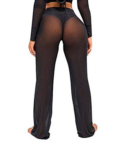 8a31485659 Viclearshop Women's See Through Sheer Mesh Legging Pant Swimsuit Bikini  Bottom Cover up