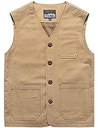 Men's Casual Cotton Outdoor Fishing Safari Travel Vest