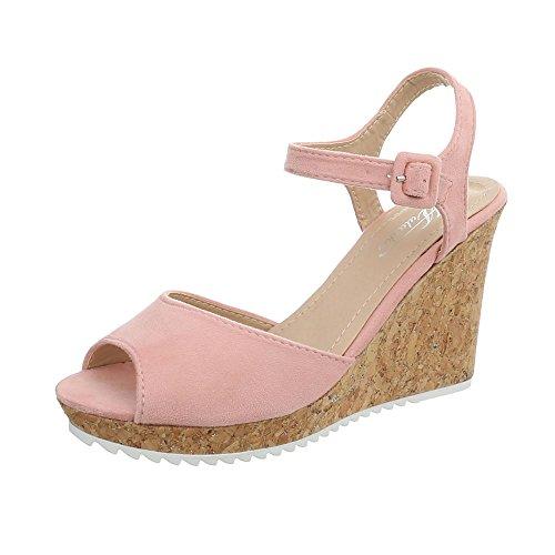 Ital-Design Chaussures Femme Sandales Compensé Sandales Compensees Rose Clair 3811-15 3lw9pxSwpq