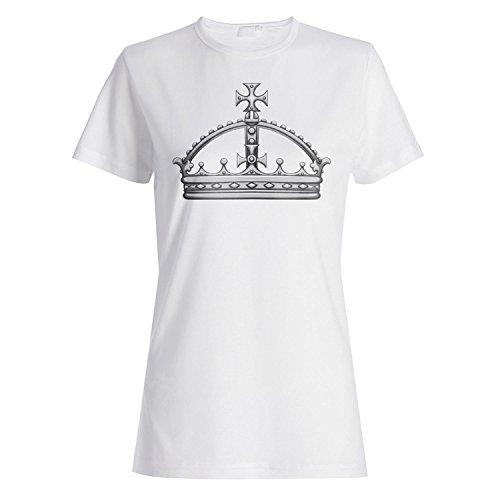 Krone König Königin Kunst lustige Neuheit Damen T-shirt a585f