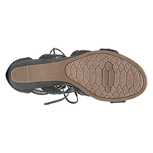 Titanium Santana Toe Carlos Microfiber Kamilla Womens by Gladiator Carlos Open Ghillie Sandals Blue qxCwvAE