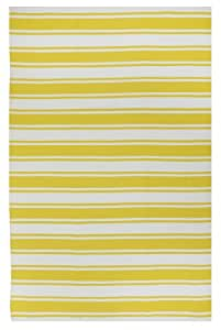 Fab Habitat 810327021240 Lucky Rug, Yellow and White, 3 by 5-Feet