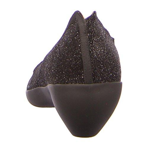 Tracey Neuls DIAZ BLACK SAND - Mocasines de Piel para mujer Negro - black sand glass