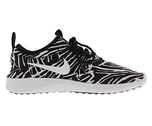 Nike Wmns Juvenate Print, Chaussures de Sport Femme Blanc Cassé - Blanco (Black / White)