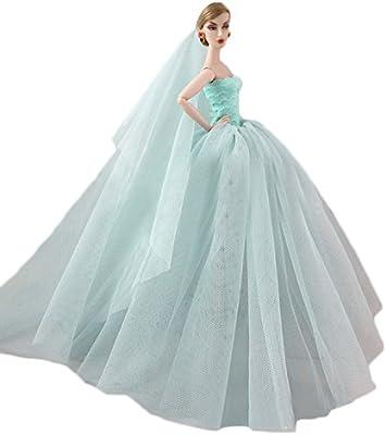 Amazon.com: Wedding Dress For Barbie,GosearElegant Fairy Girl Dolls ...
