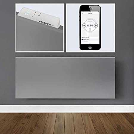 Farbe Wei/ß ADAX NEO Wandkonvektor mit Wifi-Thermostat energiesparend H/öhe 330mm 800 Watt