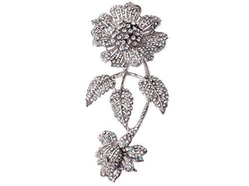 - Alilang Womens Vintage Iridescent Crystal Rhinestone Flower Prom Corsage Wedding Floral Brooch Pin