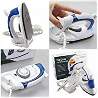 KRITISHA Travel Iron Portable Powerful Variable Temperature Mini Electrical Steam Iron with Foldable Handle, Compact & Lightweight