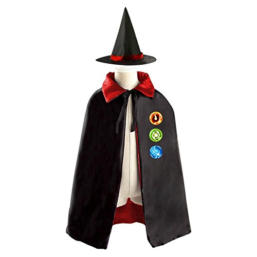 10 Ben Costume Four Arms (Halloween Ben 10 Wizard Witch Kids Childrens' Cape With Hat Party Costume Cloak)