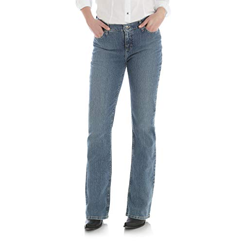 Antique Wash - Wrangler Women's As Real as Wrangler Classic Fit Boot Cut Jean, Antique Wash, 12x32
