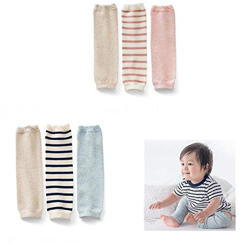 Icekon 5 Pack Little Walk Baby Knee Socks Toddler Knee Socks Leg Warmers 0-12 Months