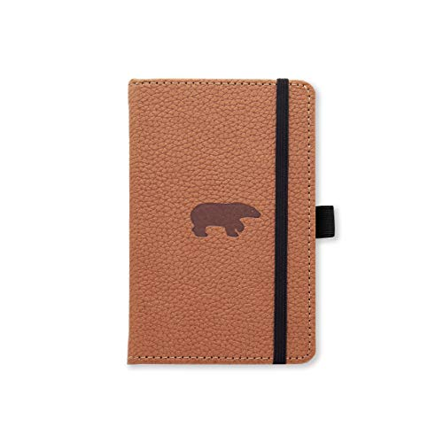 """Dingbats D5417H A6 Squared""""Wildlife Portrait Pocket Hardcover"""" Notebook - Brown"""