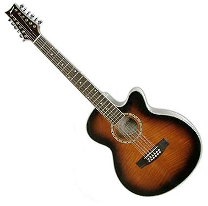 ASHTON SL29/12CEQTSB - Guitarra electroacústica (pastillas combinación, puente fijo, arce,