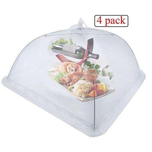 Xcellent Global Pop-Up Netzschutz Taschenschirm Lebensmittel Abdeckung Zelt für Draußen & Zuhause, Weiß HG136