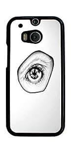 Beautiful Eye Hard Case for HTC ONE M8 ( Sugar Skull )