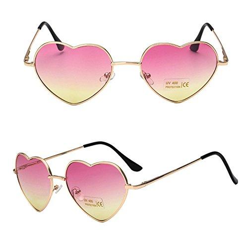 New Heart-Shaped Metal Polarized Sunglasses UV400 - Non Designer Sunglasses